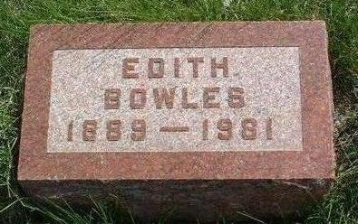 BOWLES, ROSA EDITH - Madison County, Iowa | ROSA EDITH BOWLES