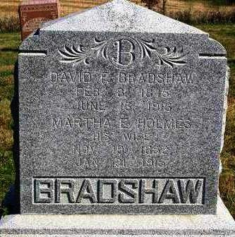 BRADSHAW, MARTHA ELLEN - Madison County, Iowa | MARTHA ELLEN BRADSHAW