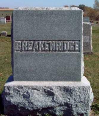 BREAKENRIDGE, FAMILY STONE - Madison County, Iowa | FAMILY STONE BREAKENRIDGE