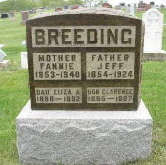 BREEDING, MARY FRANCES (FANNIE) - Madison County, Iowa | MARY FRANCES (FANNIE) BREEDING