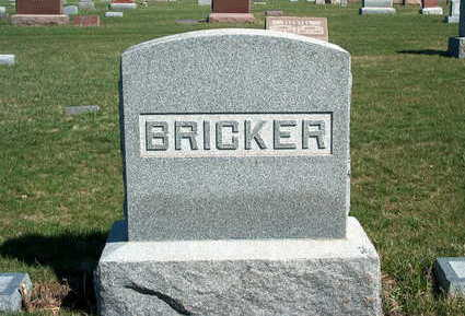 BRICKER, FAMILY STONE - Madison County, Iowa | FAMILY STONE BRICKER