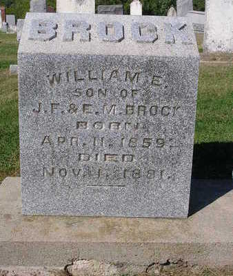 BROCK, WILLIAM  E. - Madison County, Iowa | WILLIAM  E. BROCK