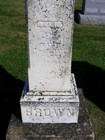 BROWN, ANNIE - Madison County, Iowa | ANNIE BROWN