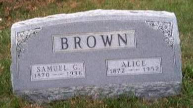 BROWN, ALICE ROXIE - Madison County, Iowa | ALICE ROXIE BROWN