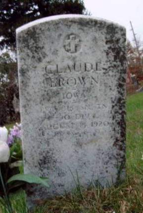 BROWN, CLAUDE - Madison County, Iowa   CLAUDE BROWN