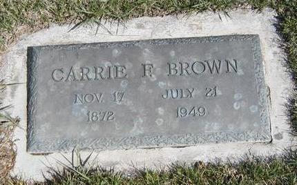 FRANCIS BROWN, CARRIE F. - Madison County, Iowa | CARRIE F. FRANCIS BROWN