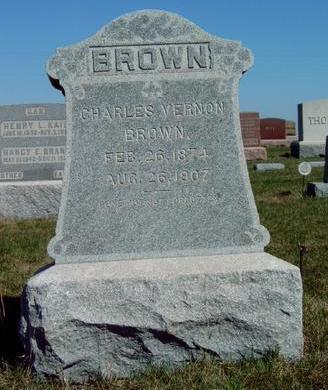 BROWN, CHARLES VERNON - Madison County, Iowa | CHARLES VERNON BROWN