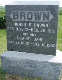 BROWN, HOMER DANIEL - Madison County, Iowa | HOMER DANIEL BROWN