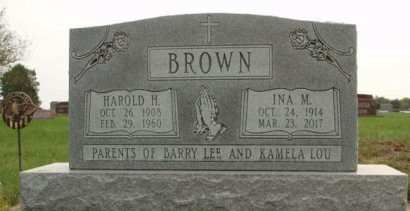 BROWN, INA M. - Madison County, Iowa | INA M. BROWN