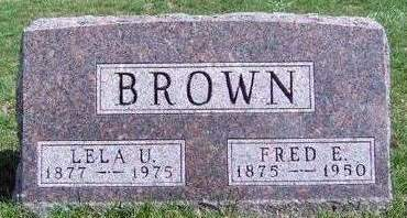 BROWN, FRED E. - Madison County, Iowa | FRED E. BROWN