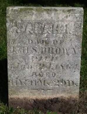 BROWN, SARAH I. - Madison County, Iowa   SARAH I. BROWN