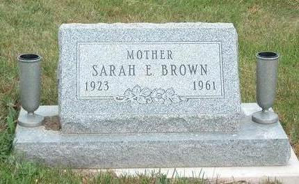 BROWN, SARAH ELIZABETH - Madison County, Iowa | SARAH ELIZABETH BROWN