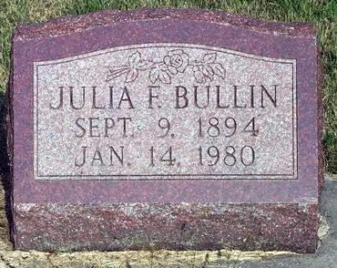 BULLIN, JULIA FRANCESCA - Madison County, Iowa | JULIA FRANCESCA BULLIN