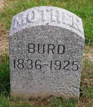 HULTS BURD, MARY E. - Madison County, Iowa | MARY E. HULTS BURD
