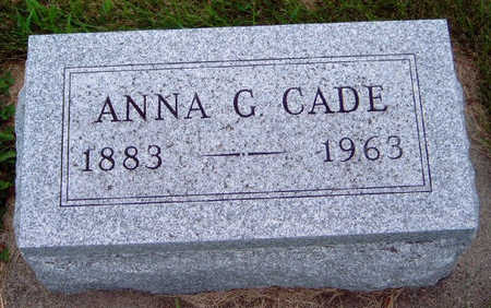 CADE, ANNA G. - Madison County, Iowa | ANNA G. CADE