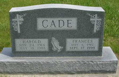 CADE, FRANCES LOUISE - Madison County, Iowa | FRANCES LOUISE CADE