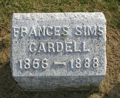 SIMS CARDELL, FRANCES - Madison County, Iowa | FRANCES SIMS CARDELL