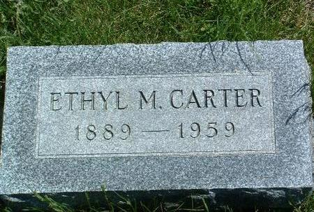 CARTER CARTER, ETHYL MARY - Madison County, Iowa | ETHYL MARY CARTER CARTER