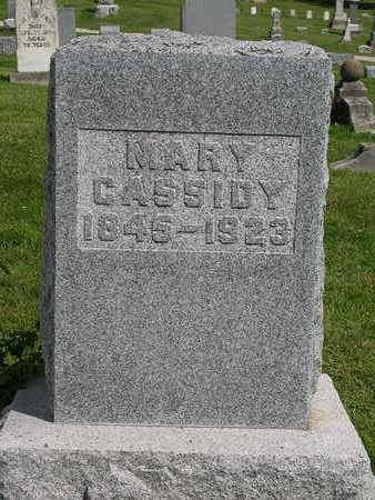 CASSIDY, MARY - Madison County, Iowa | MARY CASSIDY