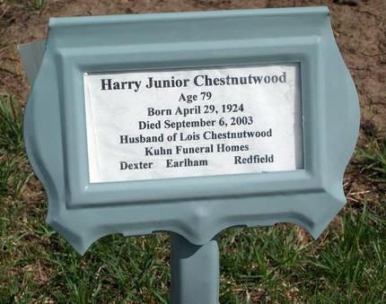 CHESTNUTWOOD, HARRY JUNIOR - Madison County, Iowa | HARRY JUNIOR CHESTNUTWOOD
