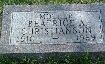 CHRISTIANSON, BEATRICE A. - Madison County, Iowa | BEATRICE A. CHRISTIANSON