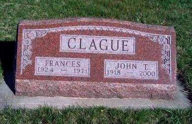 CLAGUE, JOHN THOMAS - Madison County, Iowa | JOHN THOMAS CLAGUE