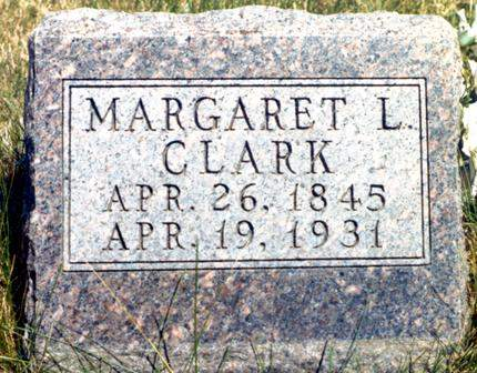 CLARK, MARGARET LOVISA - Madison County, Iowa | MARGARET LOVISA CLARK