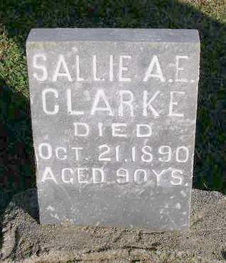CLARKE, SALLIE A.E. - Madison County, Iowa | SALLIE A.E. CLARKE