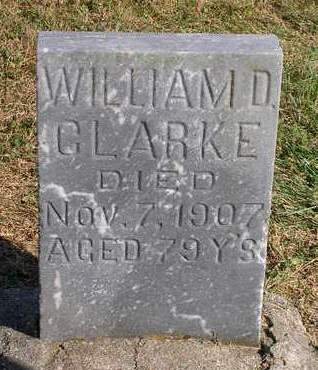 CLARKE, WILLIAM D. - Madison County, Iowa | WILLIAM D. CLARKE