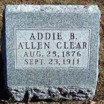 CLEAR, ADDIE BELLE - Madison County, Iowa | ADDIE BELLE CLEAR