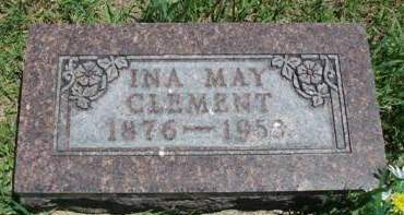 CLEMENT, INA MAY - Madison County, Iowa   INA MAY CLEMENT