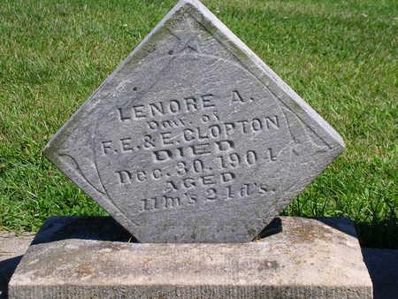 CLOPTON, LENORE A. - Madison County, Iowa   LENORE A. CLOPTON