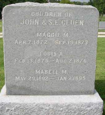 CLUEN, LOUIS A. - Madison County, Iowa | LOUIS A. CLUEN