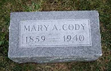 CODY, MARY ANN - Madison County, Iowa | MARY ANN CODY