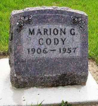 CODY, MARION G. - Madison County, Iowa | MARION G. CODY