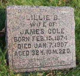COLE, LILLIE B. - Madison County, Iowa | LILLIE B. COLE