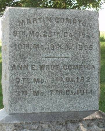 COMPTON, ANNE E. - Madison County, Iowa | ANNE E. COMPTON