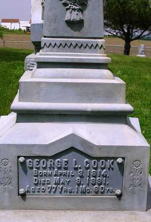 COOK, GEORGE L. - Madison County, Iowa   GEORGE L. COOK