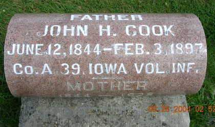 COOK, JOHN HAMILTON - Madison County, Iowa | JOHN HAMILTON COOK