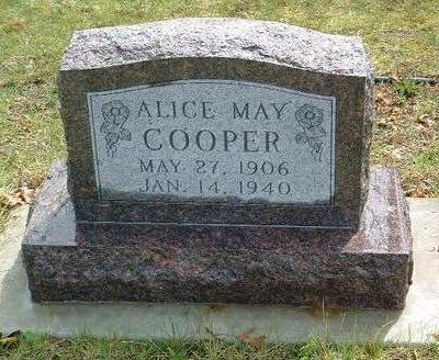 WEBER COOPER, ALICE MAY - Madison County, Iowa | ALICE MAY WEBER COOPER
