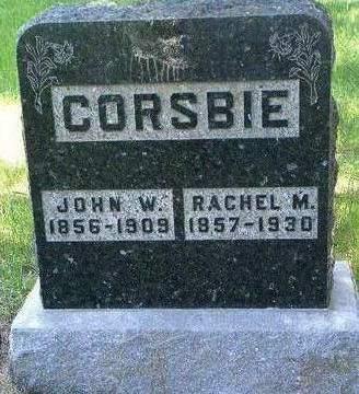 MCCULLOUGH CORSBIE, RACHEL MATILDA - Madison County, Iowa | RACHEL MATILDA MCCULLOUGH CORSBIE