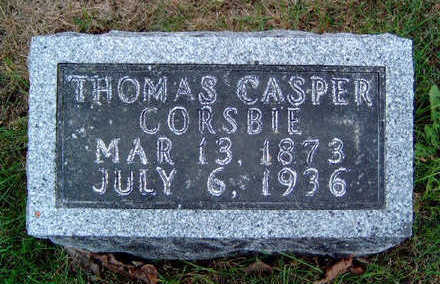 CORSBIE, THOMAS CASPER - Madison County, Iowa | THOMAS CASPER CORSBIE