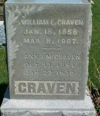 CARVER CRAVEN, ANNA MAY - Madison County, Iowa | ANNA MAY CARVER CRAVEN