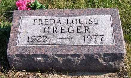 CREGER, FREDA LOUISE - Madison County, Iowa | FREDA LOUISE CREGER