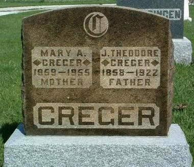 SWEARINGEN CREGER, MARY ALICE - Madison County, Iowa | MARY ALICE SWEARINGEN CREGER