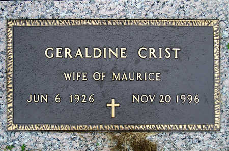 CRIST, GERALDINE - Madison County, Iowa | GERALDINE CRIST