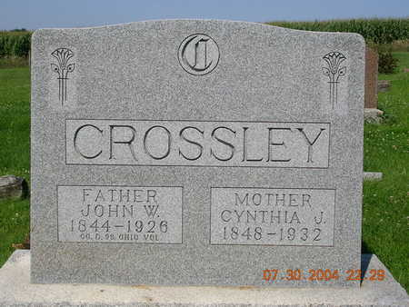 CROSSLEY, JOHN WESLEY - Madison County, Iowa | JOHN WESLEY CROSSLEY