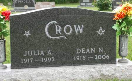 SHARP CROW, JULIA ANN - Madison County, Iowa | JULIA ANN SHARP CROW