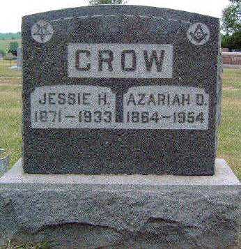 SMITH CROW, JESSIE HART - Madison County, Iowa | JESSIE HART SMITH CROW