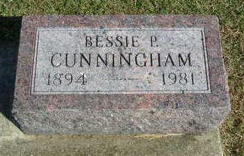 CUNNINGHAM, BESSIE P. - Madison County, Iowa | BESSIE P. CUNNINGHAM